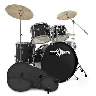 GD-7 Fusion Drum Kit + Practice Pack, Black Sparkle