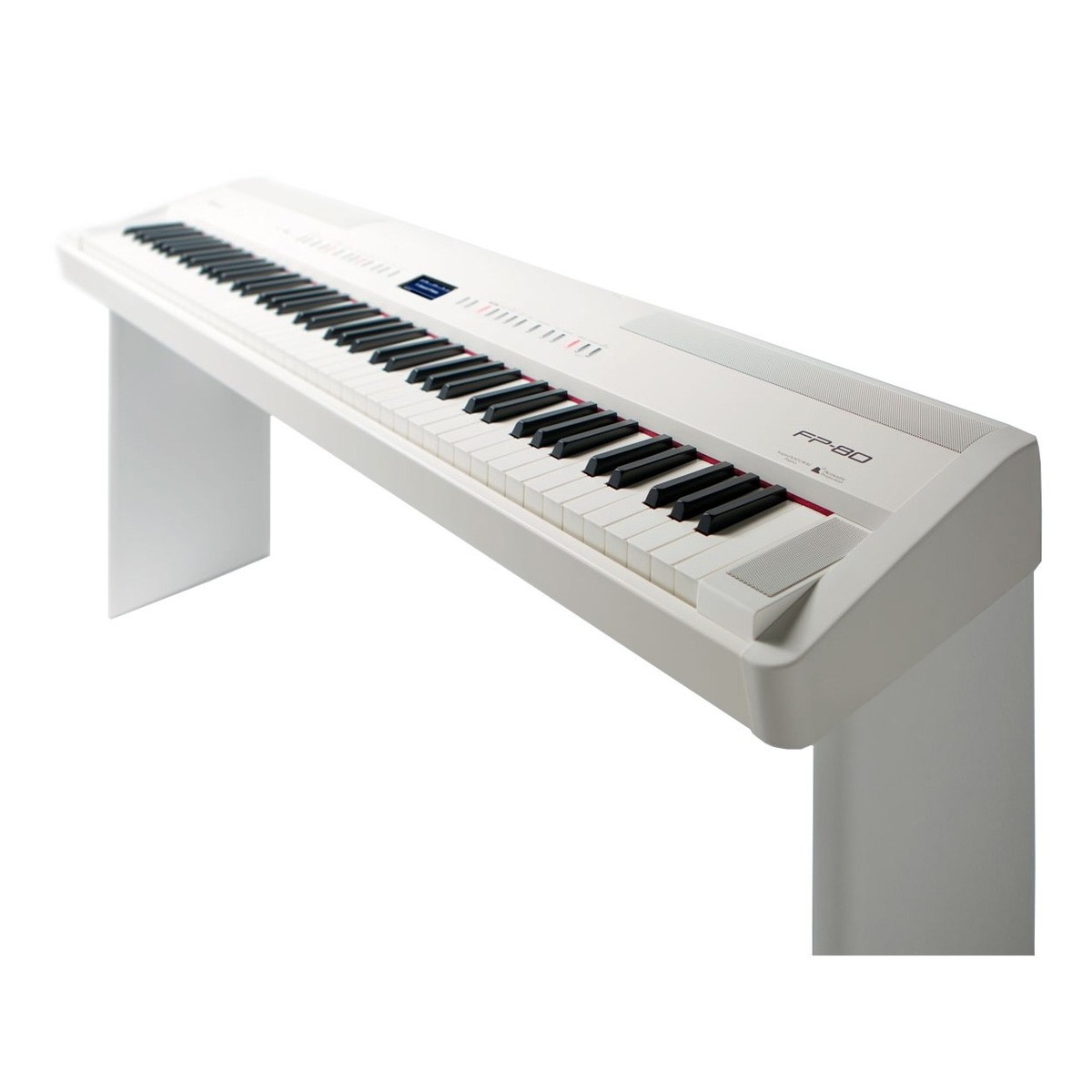 roland fp 80 digital piano with free stand white at. Black Bedroom Furniture Sets. Home Design Ideas