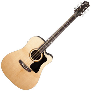 Guild AD-5CE Dreadnought Cutaway Electro Acoustic Guitar, Natural