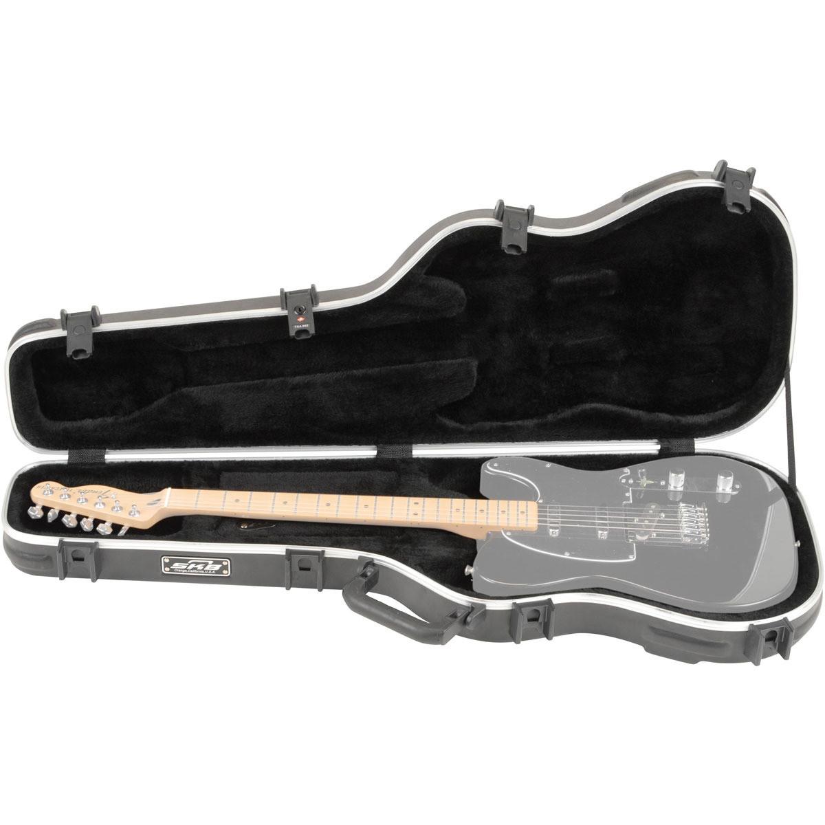 skb standard electric guitar case box opened at. Black Bedroom Furniture Sets. Home Design Ideas
