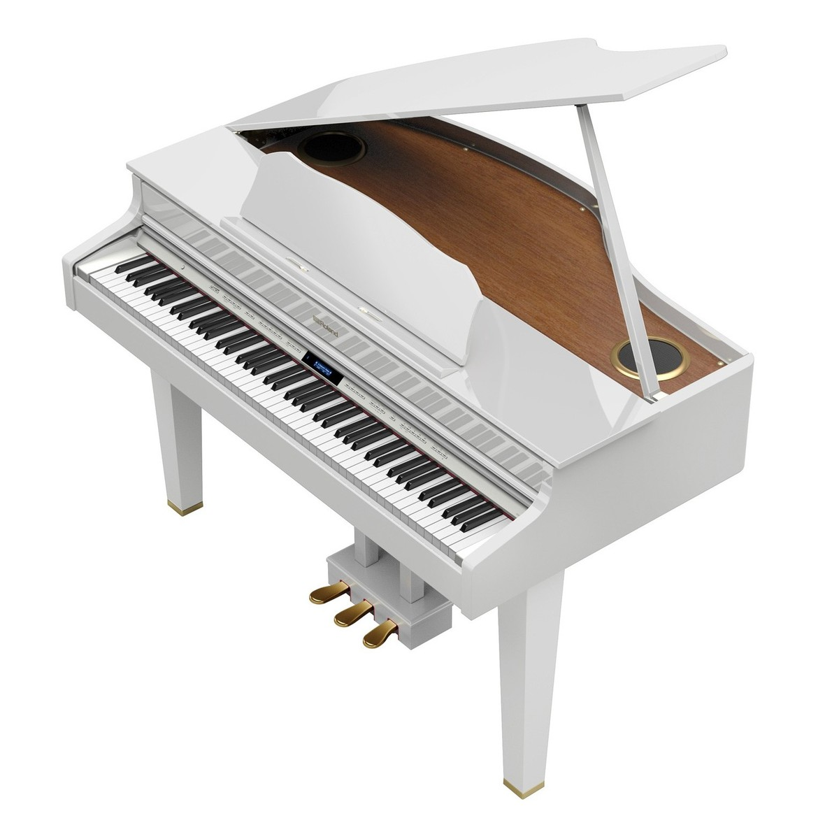 roland gp607 digital grand piano polished white at. Black Bedroom Furniture Sets. Home Design Ideas