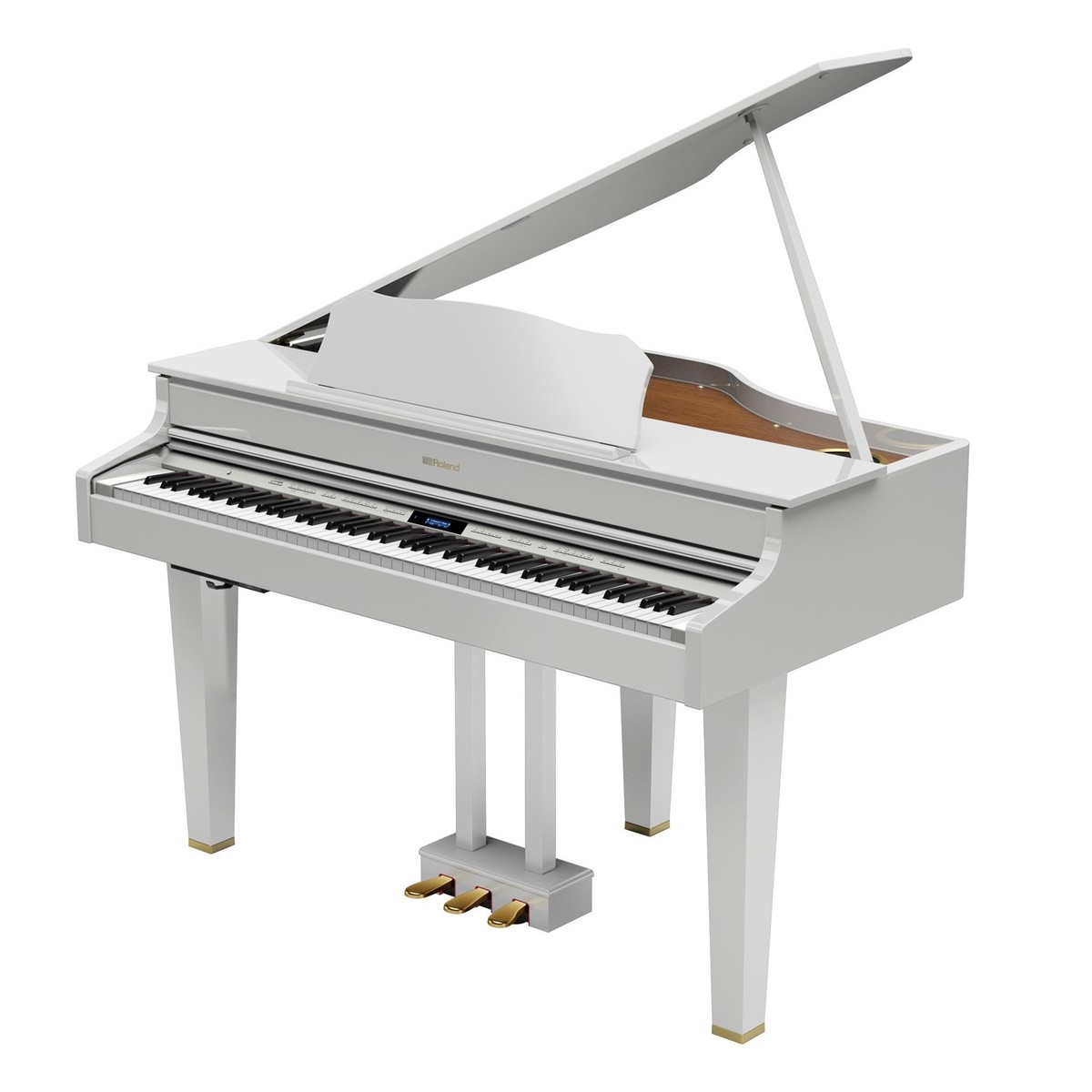Roland GP607 Digital Grand Piano, Polished White at ...