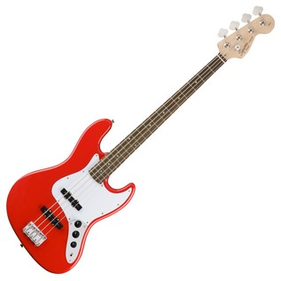 Squier by Fender Affinity Jazz Bass Guitar, Race Red
