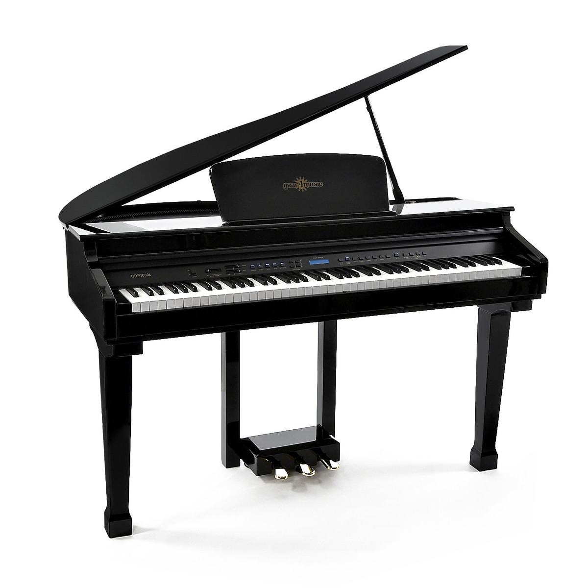 Gdp 100 digital grand piano by gear4music b stock at for Size of a baby grand piano