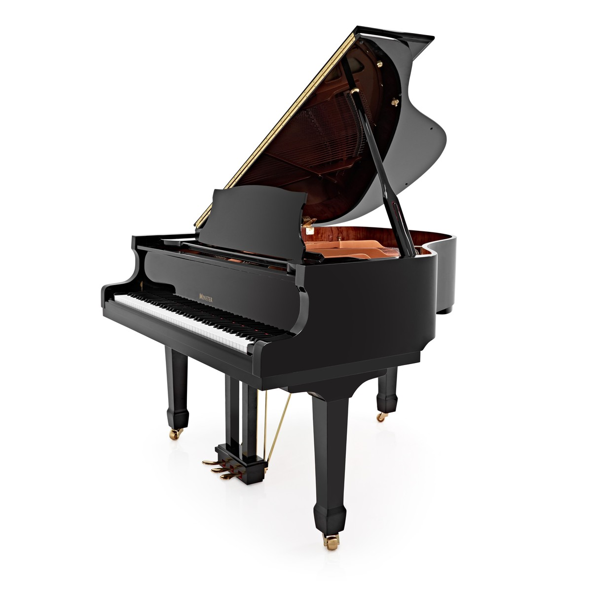 Image of Minster Acoustic Grand Piano Gloss Black