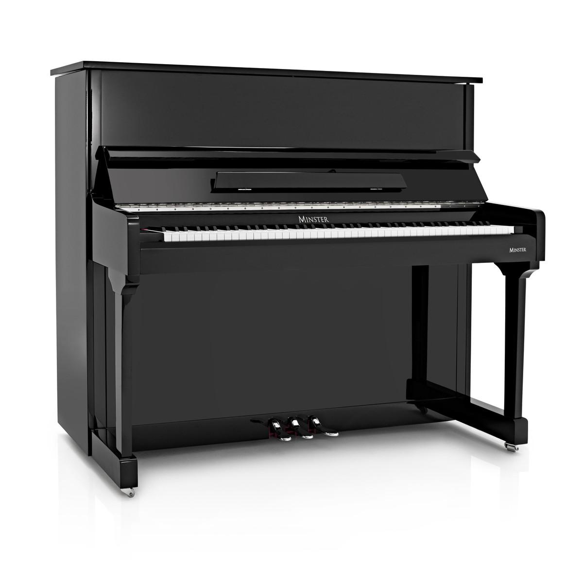 Image of Minster Upright Acoustic Piano Gloss Black