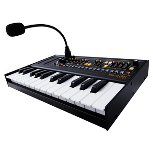 Roland Boutique VP-03 Module with K-25m Keyboard - Angled With Mic