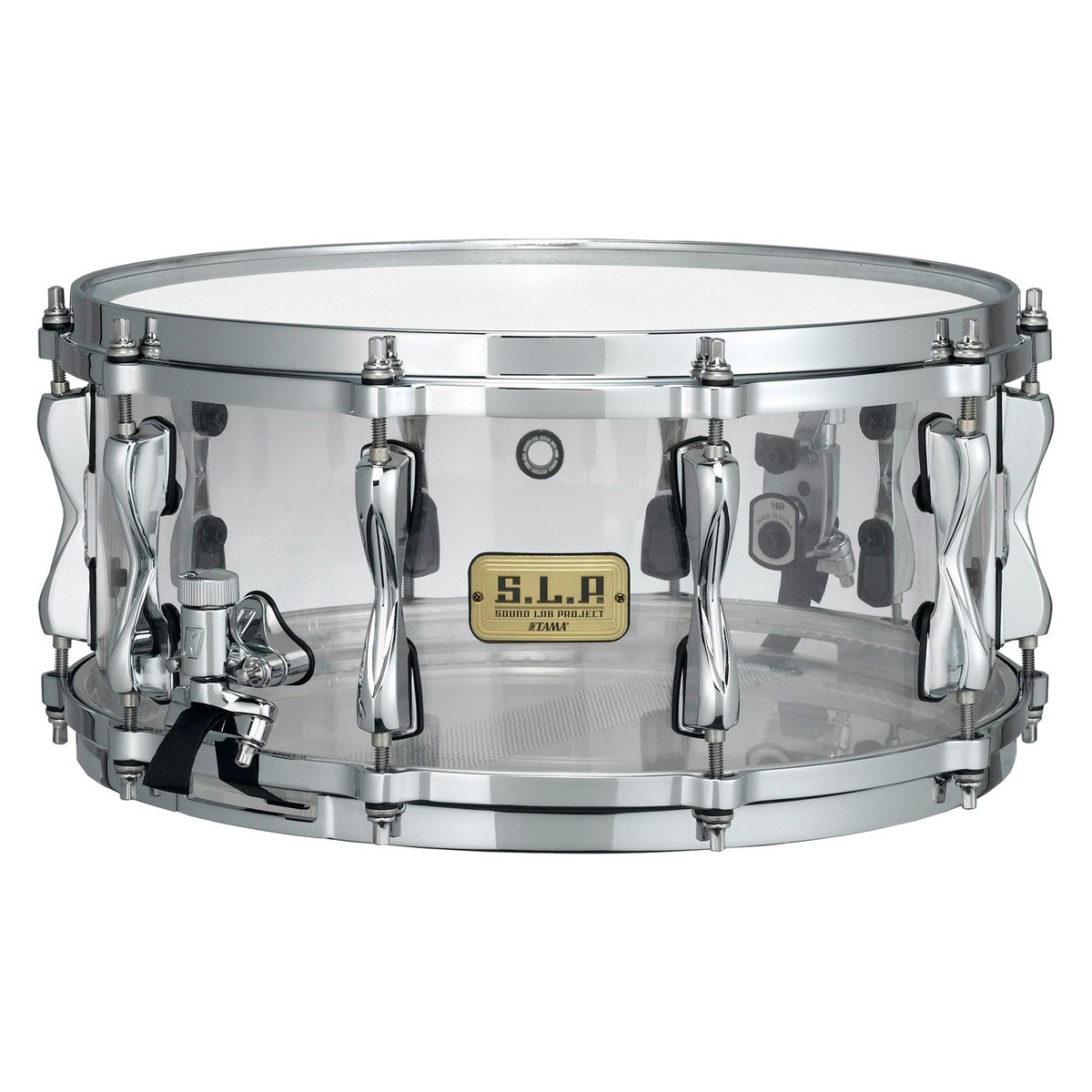 Image of Tama SLP Mirage Acrylic 14 x 6.5 Snare Drum Crystal Ice