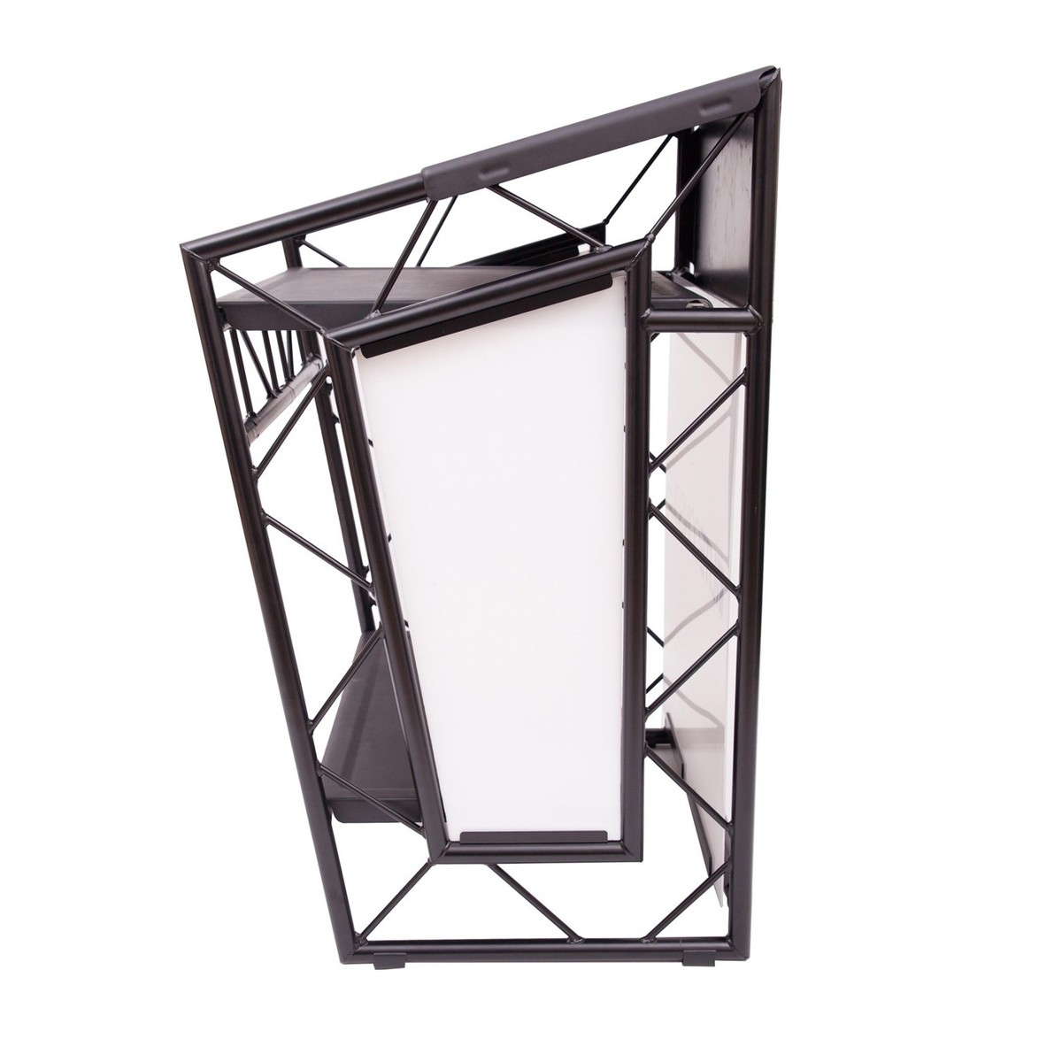 liteconsole go portable aluminium booth black at. Black Bedroom Furniture Sets. Home Design Ideas