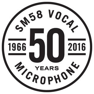 Shure SM58 50A Limited Edition Dynamic Cardioid Vocal Microphone