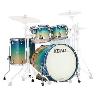 Tama Starclassic Maple 22'' Shell Pack, Figured Caribbean Blue Fade