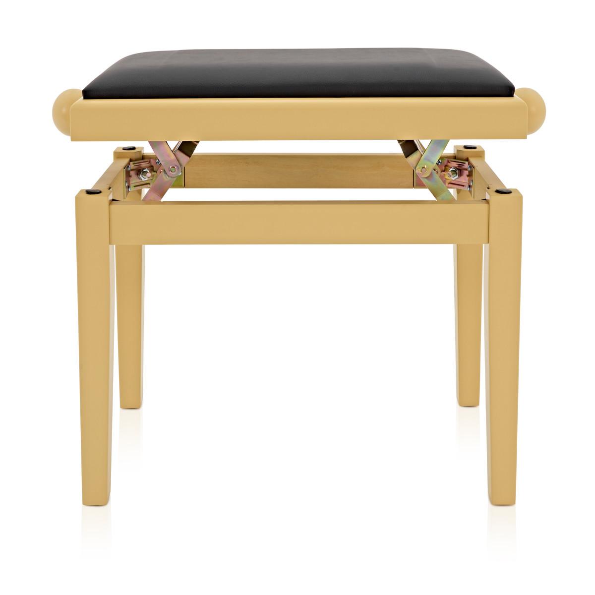 Adjustable Piano Stool By Gear4music Light Cherry Box