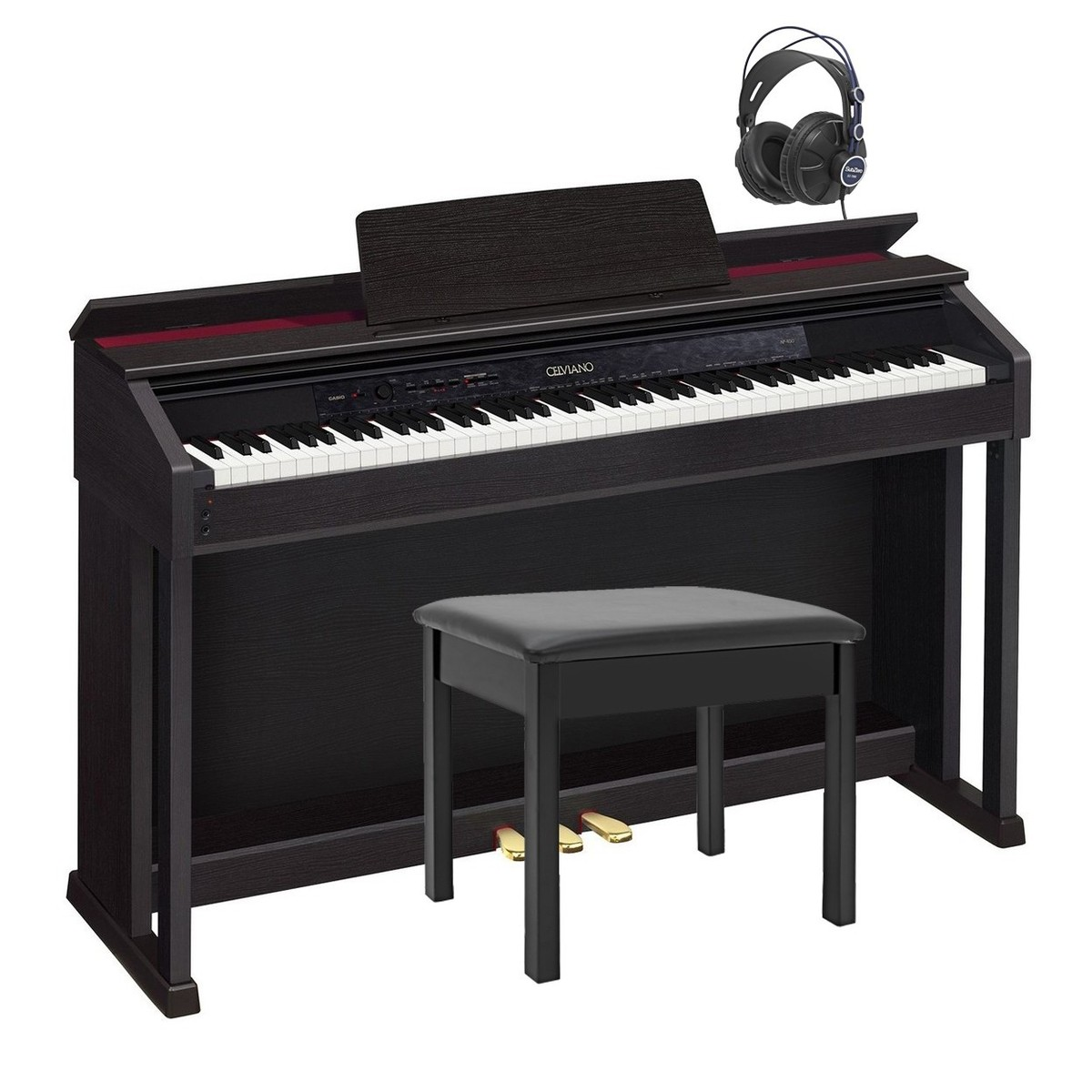 Image of Casio Celviano AP-450 Digital Piano with Stand and Headphones