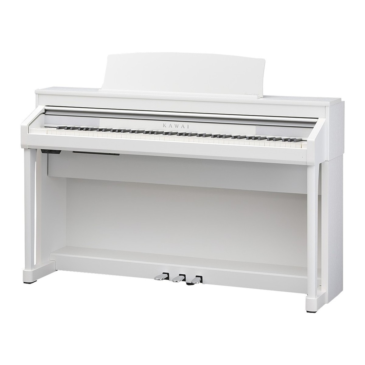 kawai concert artist ca67 digital piano package satin white at. Black Bedroom Furniture Sets. Home Design Ideas