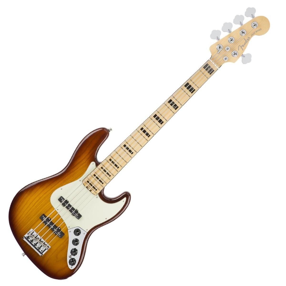 fender american elite ash jazz 5 string bass v mn tobacco sunburst at. Black Bedroom Furniture Sets. Home Design Ideas