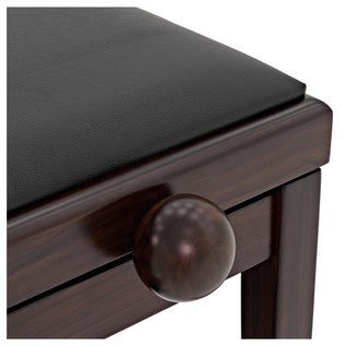 Adjustable Piano Stool by Gear4music, Rosewood