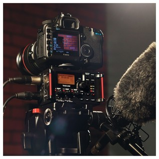 Tascam DR-60D-MKII Audio Recorder for use with DSLR