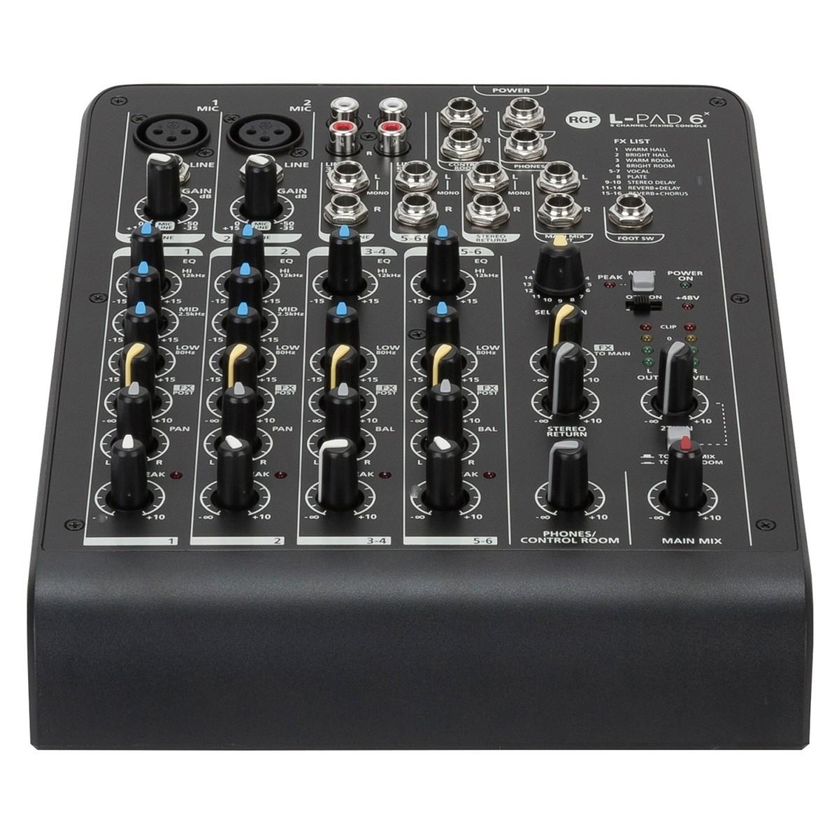 Table de mixage analogique rcf lpad6x audio 6 canaux - Table de mixage virtuel gratuit en francais ...