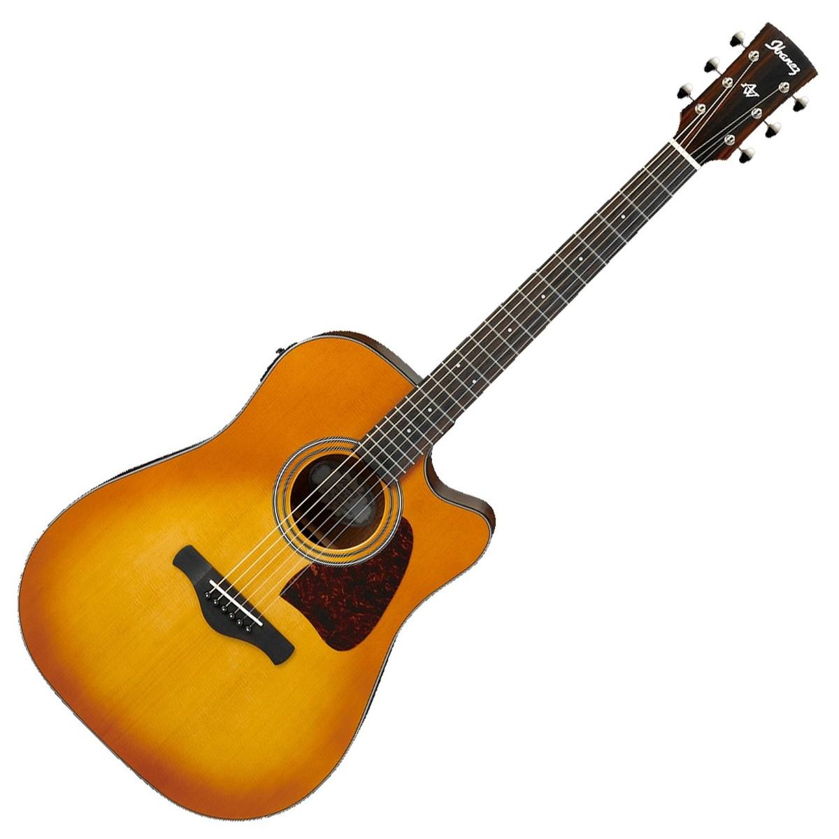 Image of Ibanez AW400CE Electro Acoustic Guitar Light Violin Sunburst Gloss