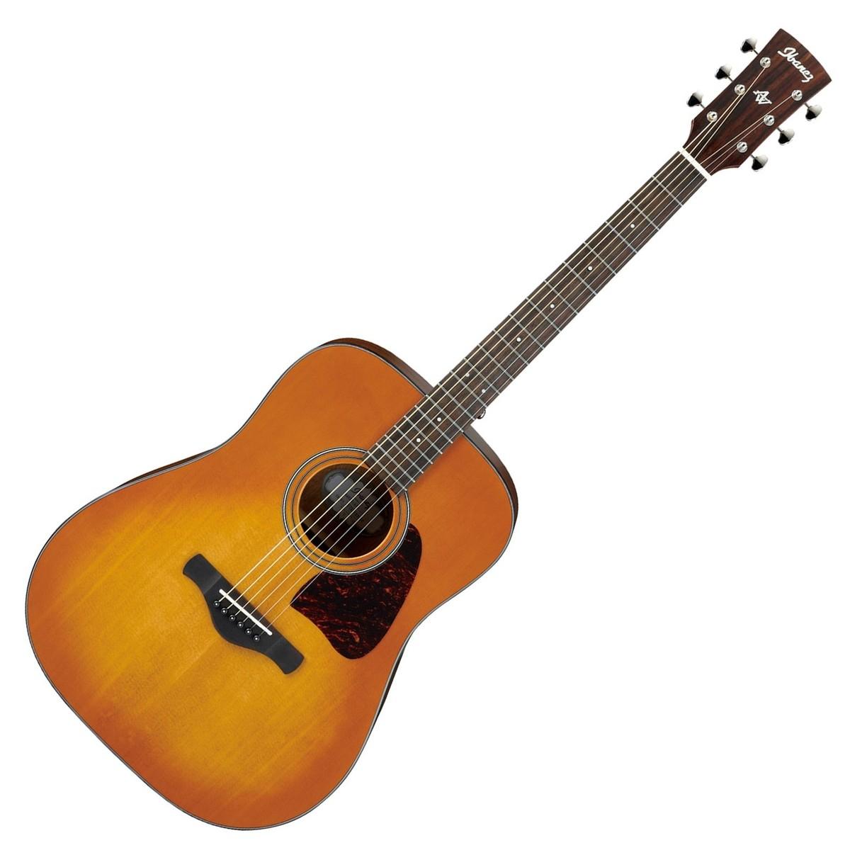 Image of Ibanez AW400 Acoustic Guitar Light Violin Sunburst High Gloss