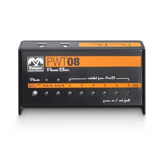 Palmer MI PWT 08 Universal 9V Pedalboard Power Supply 8 Outputs