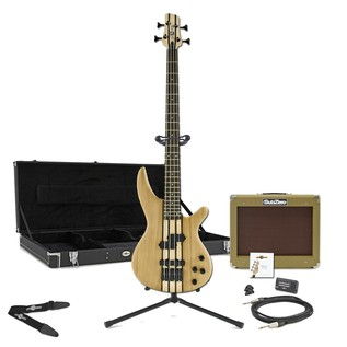 Oregon Bass Guitar Bass + SubZero V35B Amp Pack, Black
