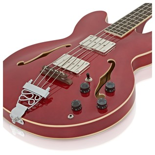 San Francisco Semi Acoustic Bass + RedSub BP80 Amp Pack, Wine Red