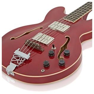 San Francisco Semi Acoustic Bass + RedSub BP80 Amp Pack, Wine Red