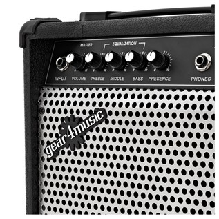 Lexington Bass Guitar + 15W Amp Pack, Red