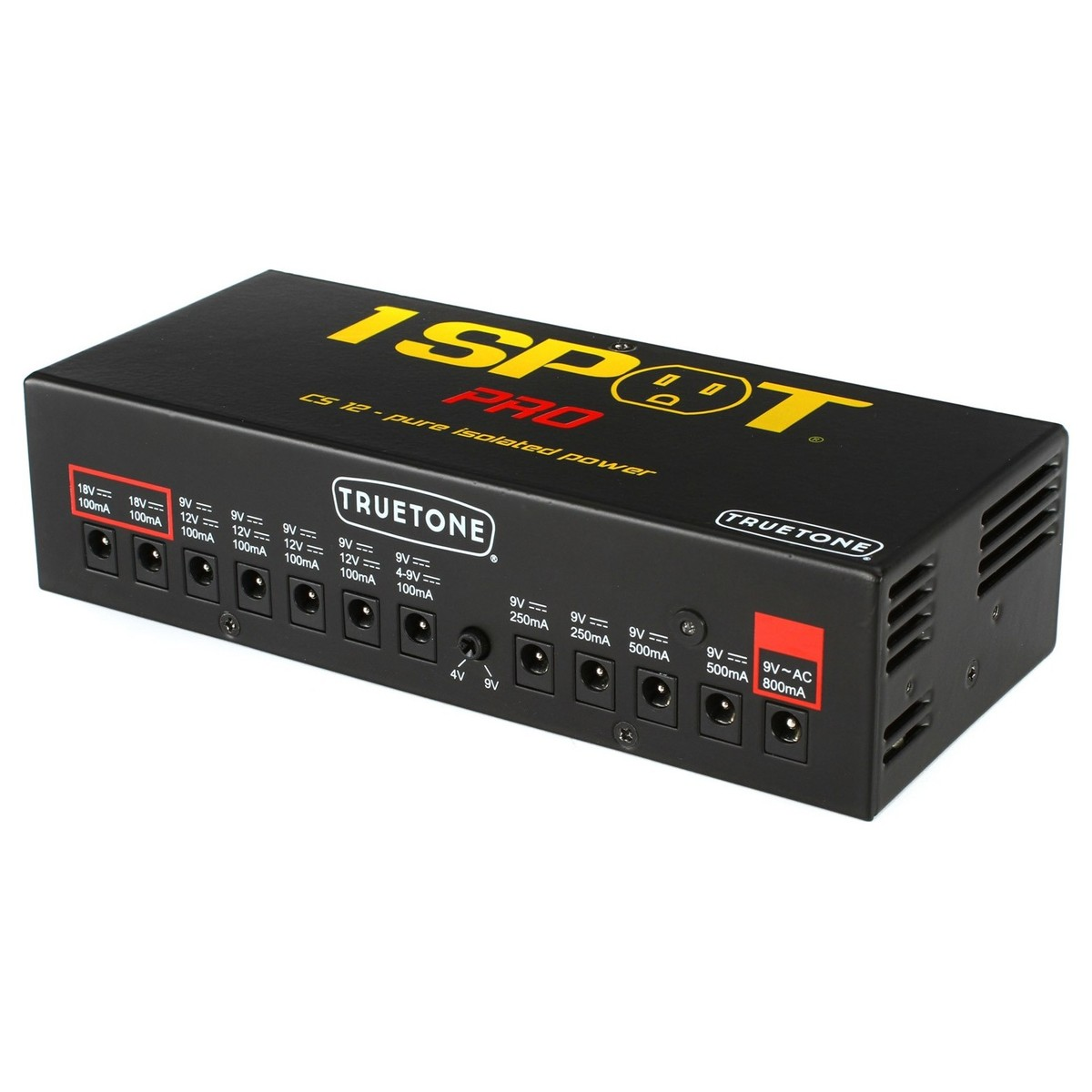 truetone 1 spot pro cs12 guitar pedal multi power supply at. Black Bedroom Furniture Sets. Home Design Ideas