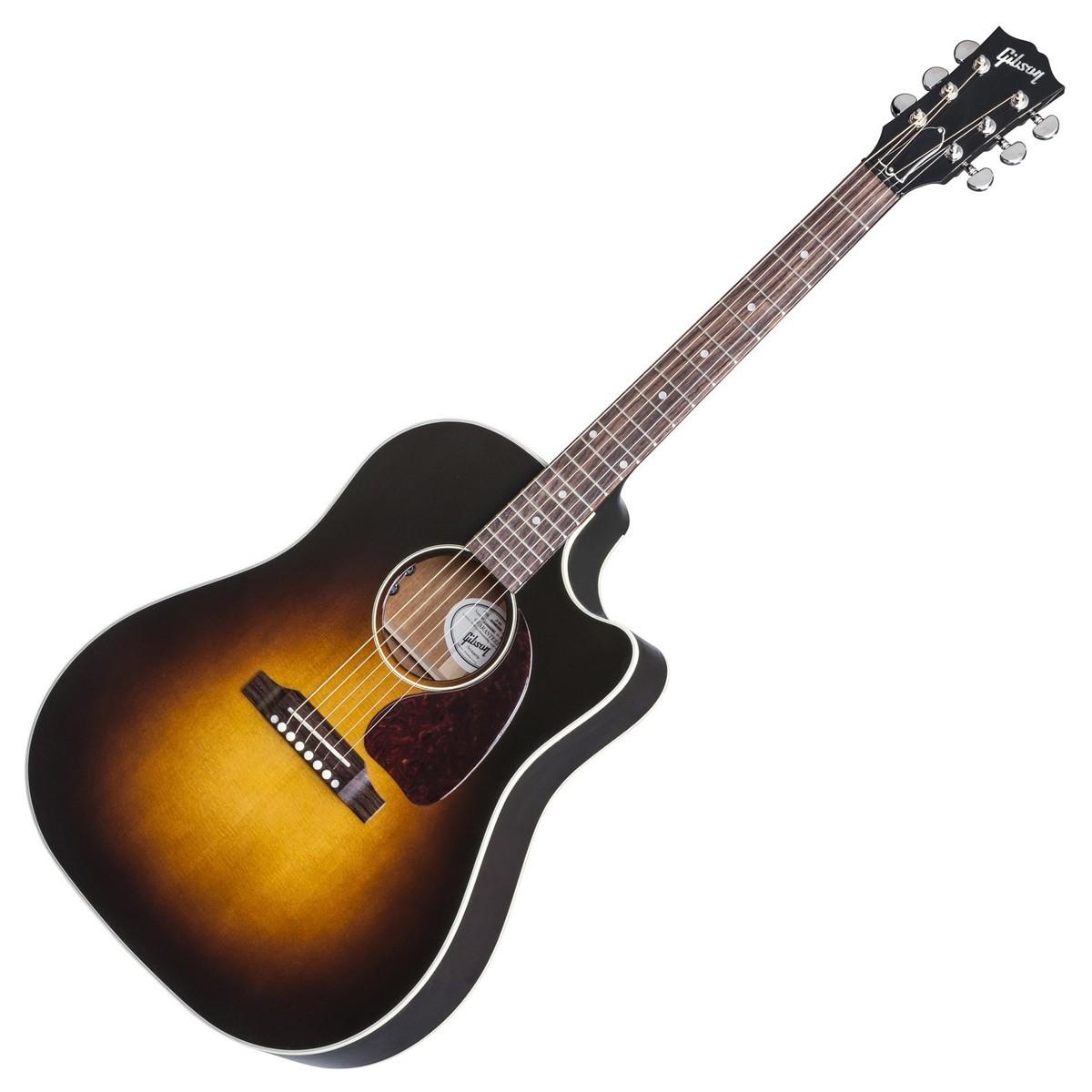 gibson j 45 cutaway electro acoustic guitar vintage. Black Bedroom Furniture Sets. Home Design Ideas