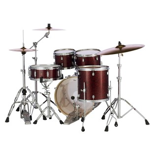 Pearl Decade Maple Crimson Galaxy Flake