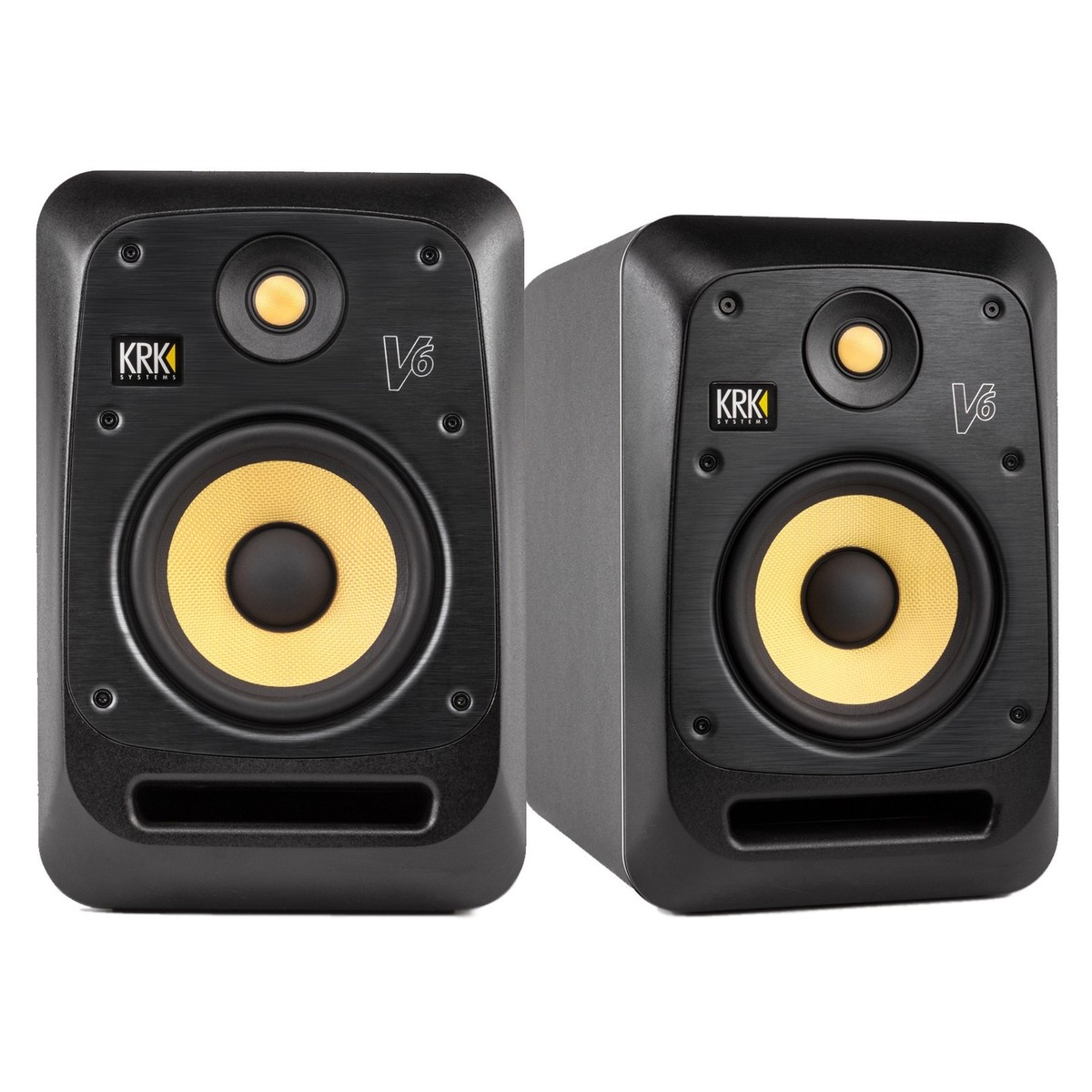 krk v6s4 studio monitor with stands pair at. Black Bedroom Furniture Sets. Home Design Ideas