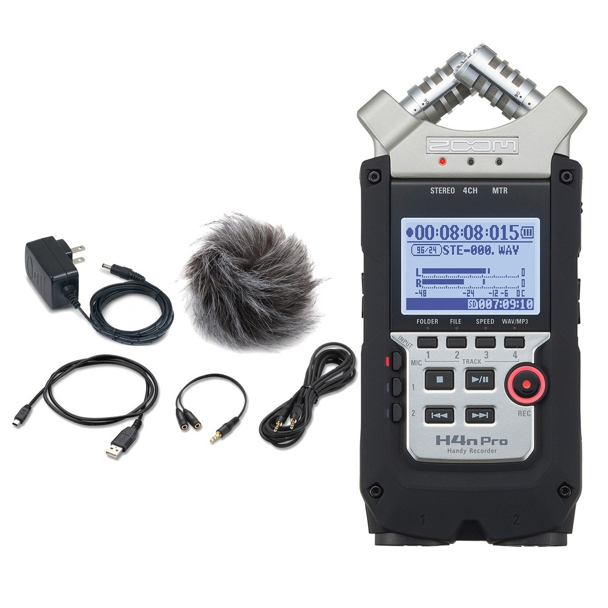 Image of Zoom H4N Pro Handy Recorder with Accessory Pack
