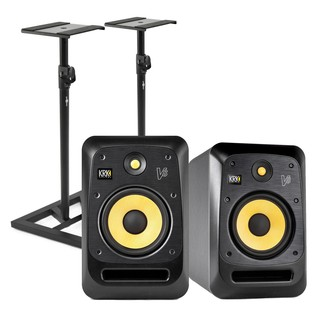 KRK V8S4 Studio Monitor with Stands, Pair