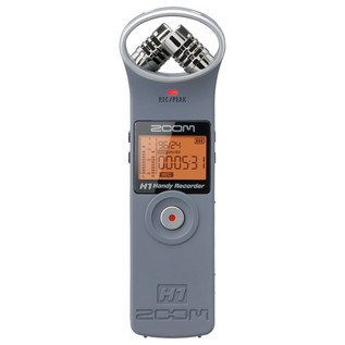 Zoom H1 Recorder with Accessory Pack, Matte Grey - Front