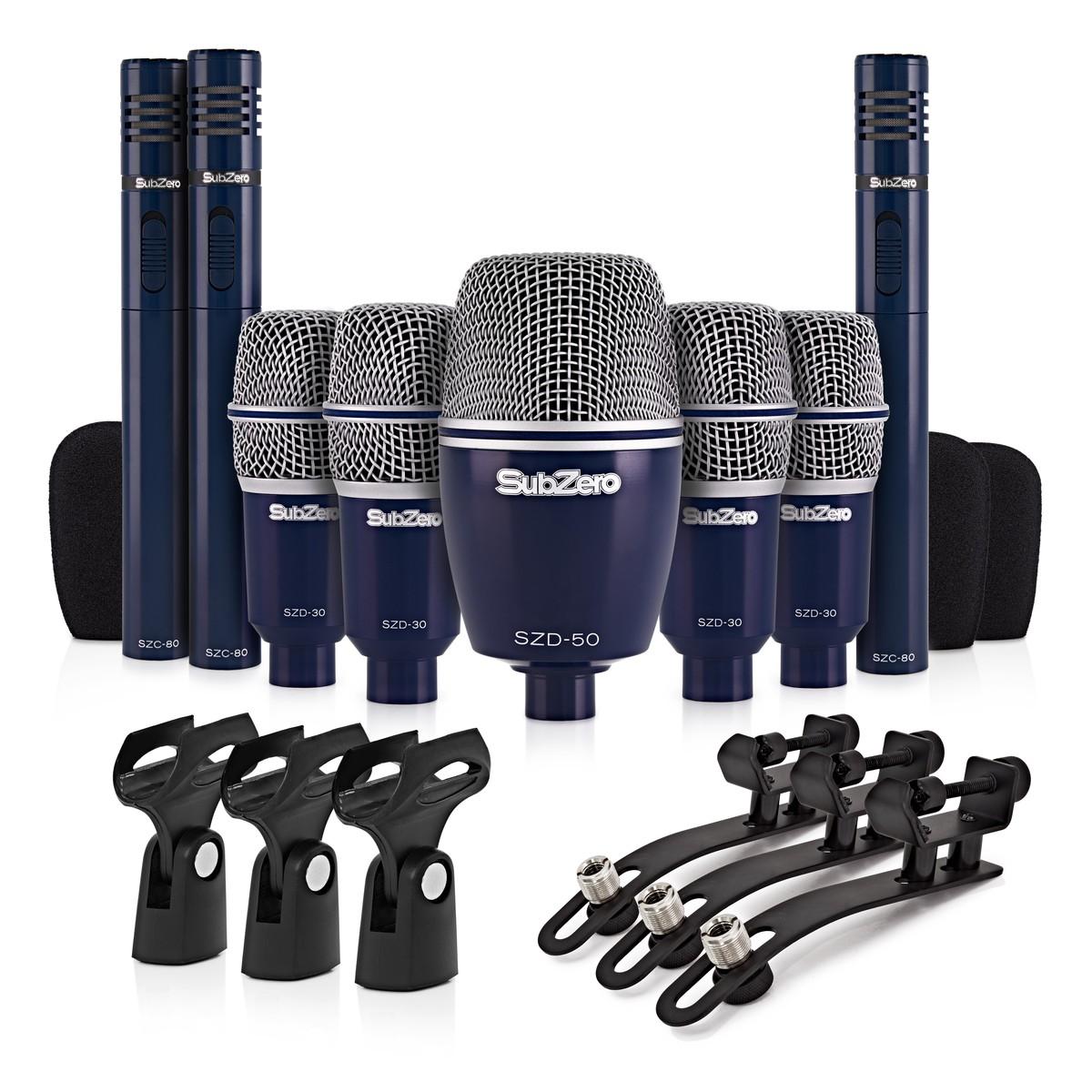 subzero szd 8000 drum mic set 8 piece at. Black Bedroom Furniture Sets. Home Design Ideas