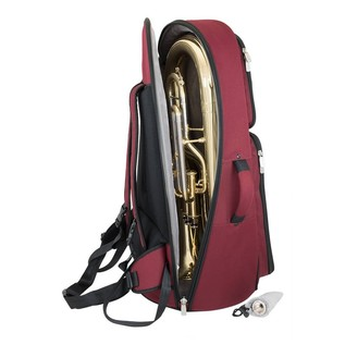 Tom and Will 26EU Euphonium Gig Bag, Black and Burgundy