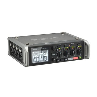 Zoom F4 MultiTrack Field Recorder with Protective Case - Recorder Angled