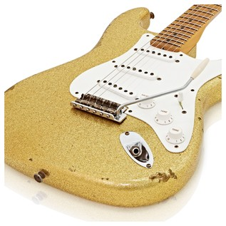 Fender Custom Shop 1955 Strat Relic, Aged Gold Sparkle #CZ525194