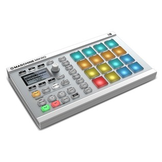 Native Instruments Maschine Mikro MK2, White - Angled