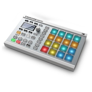 Native Instruments Maschine Mikro MK2, White - Angled 2