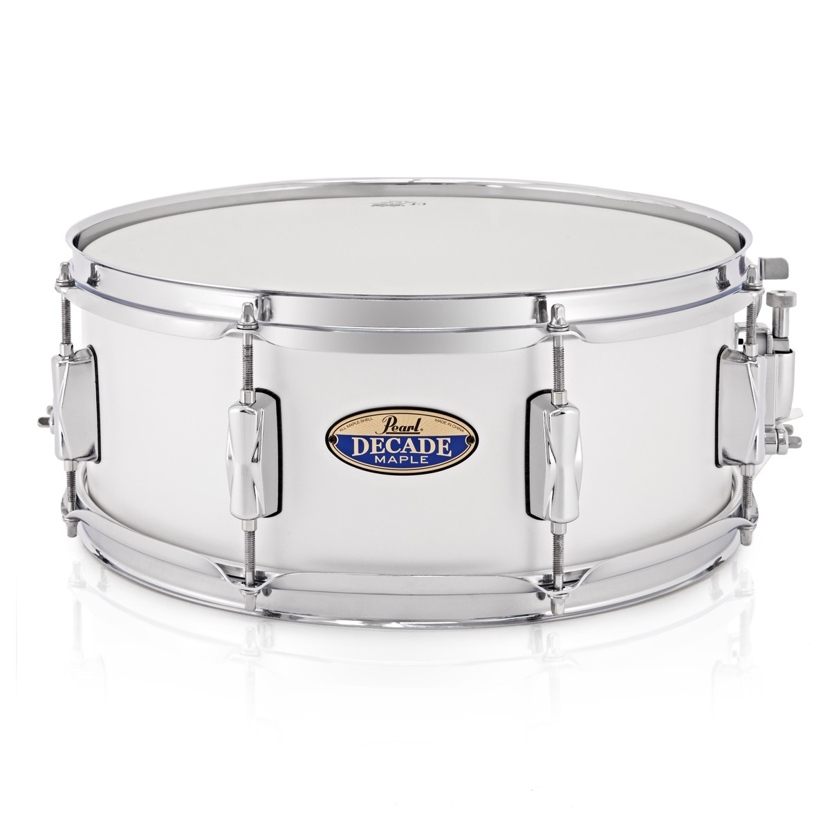 pearl decade maple 14 x 5 5 snare drum white satin pearl at. Black Bedroom Furniture Sets. Home Design Ideas