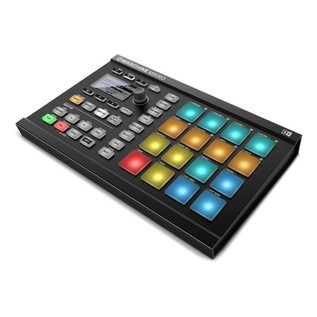 Native Instruments Maschine Mikro MK2 with Komplete 11 ULT, Black - Mikro Angled
