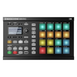 Native Instruments Maschine Mikro MK2 with Komplete 11 ULT, Black - Mikro Top