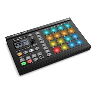Native Instruments Maschine Mikro MK2 with Komplete 11 ULT, Black - Mikro Angled 2