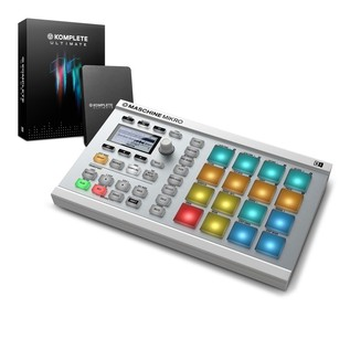 Native Instruments Maschine Mikro MK2 with Komplete 11 ULT, White - Bundle