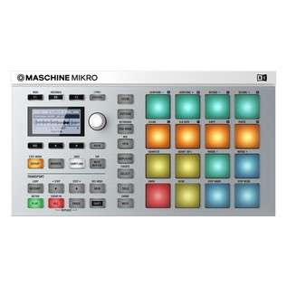 Native Instruments Maschine Mikro MK2 with Komplete 11 ULT, White - Top