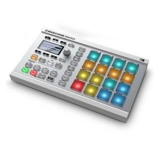 Native Instruments Maschine Mikro MK2 with Komplete 11, White -