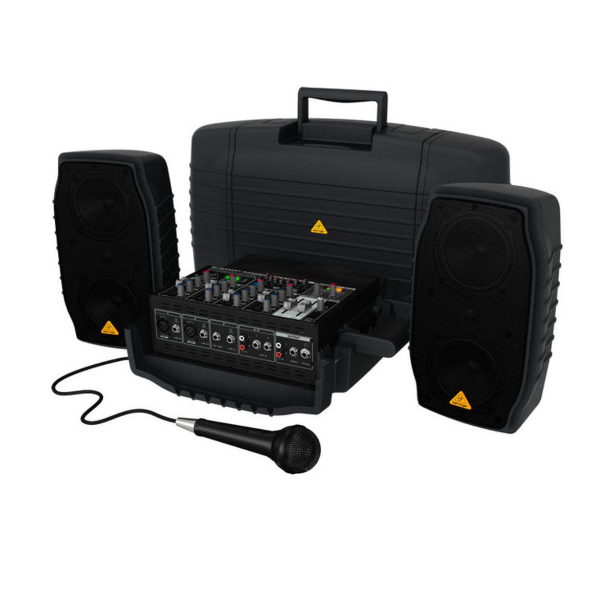 behringer europort ppa200 5 channel portable pa system box opened at. Black Bedroom Furniture Sets. Home Design Ideas